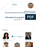 Invest Atlanta affordable housing presentation to Atlanta City Council, 2014