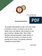 pensamiento Rotario