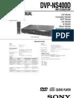 Dvd Sony Dvp Ns400d