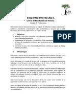 Programa encuentro interno de Historia - 2014