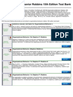 Organizational Behavior Robbins 15th Edition Test Bank