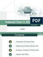 Indexed View in SQL Server