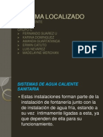 Sistema Localizado Agua Caliente