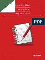 Ensayo tipo SIMCE II° semestre, 8° básico Lenguaje Lectura (1)