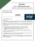 111 Exam Essai 2013 Cor