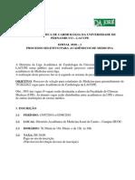 Lacupe - Edital 2010 -1