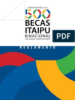 Reglamento BecasItapu Convocatoria 2013