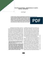 Dinâmica Político-eleitoral, Burocracia e Gasto Social Estadual