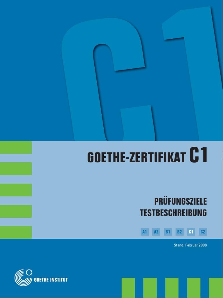 Pruefungsziele Und Testbeschreibung C1