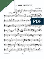Weber Carl Maria Von - Gran Duo Concertante Op. 48. Violin Part