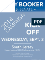Booker Campaign Kickoff -- South Jersey