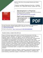 Faith and Economics in Development - Tyndale