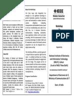 IEEE NIELIT Verilog Workshop April 2013 Brochure