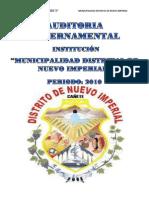 Auditoria Gubernamental-Municipalidad Distrital Nuevo Imperial