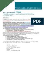 Acumen Pakistan Fellows Printable Application Form Class of 2015