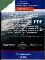 Geología - Cuadrangulo de Cunambo (5k), Mariscal Cáceres (5l), Río Pucacuro (5m), Vargas Guerra (6h), Río Huitoyacu