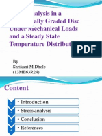 Stress Analysis in a Functionally Graded Disc n