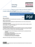 Activities for Tutoring a Pre Literate Student