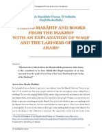 Taking Masaahif and Books From the Masjid _ Shaykh Mashhur Hasan Al-Salman