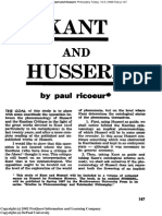 Kant and Husserl