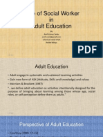 Adult Education Role of Social Worker