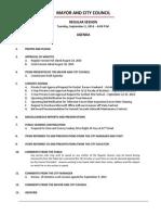 September 2 2014 Complete Agenda