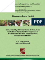 Compatability of Institutional Architecture for Rubber Plantation Development in North East India from a Comparative Perspective of Kerala