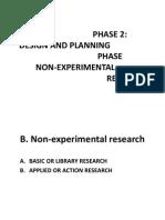 Non-Experimental Research (1)