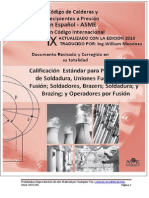 Código Asme, Sección Ix, Parte Qw en Español.2013