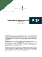 Las Habilidades Del Pivote en Alta Competicion. TESIS de GABI DAZA