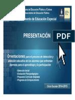 Presentación Documentos Agosto