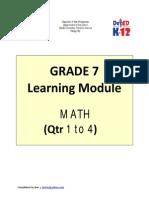 Kto12 Grade 7 Math q1 to q4