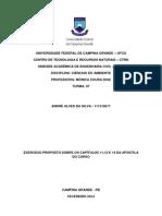 Exercício Capitulos 11 12 e 13 Ciencias Do Ambiente