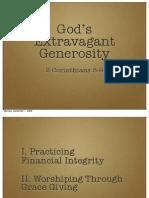 God's Extravagant Generosity