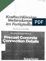 205628115 Precast Concrete Connection Details Structural Design Manual