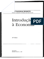 Introdução à Economia (Capítulo 01 e 02) – José Rossetti