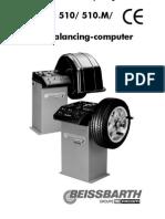 Manual Balanceadora Beissbarth Microtec 510- 510.M