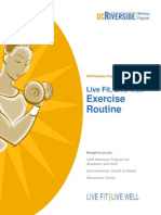 Live Fit Live Well Exercise Routine