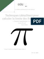 3as Maths Techniques Calcul Limite Fonctions Ln