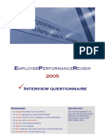 Employee Performance Review - Interview Questionnaire- Module 4