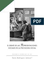 El Debate de Las Representaciones Sociales en La Psicología Social