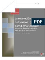 Revolcion Bolivarina. Nuevo Paradigma Socialista