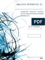 Informe Análisis Matemático II (Antenas Parabólicas)