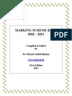 Mark scheme bank 0580