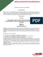 Reglamento Del Instituto Nacional de Transformacion Agraria