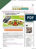 Nova Dieta Para Diabéticos - Cardápio Completo Para Diabetes Tipo 2