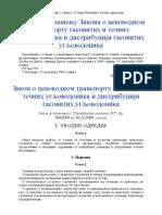 Zakon o Cevovodnom Transportu Gasovitih i Tecnih Ugljovodonika 2009