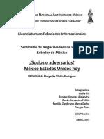 Socios o Adversarios México Estados Unidos Hoy