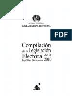 Compilación de La Legislación Electoral de La República Dominicana 2010
