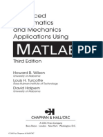 Advanced Mathematics &Mechanics Applications Using MATLAB